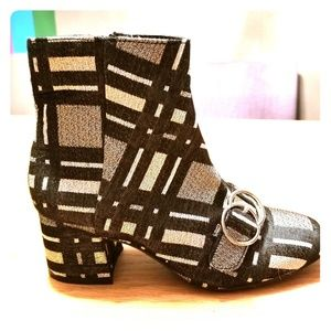 Bleecker and Blond Ankle Boots